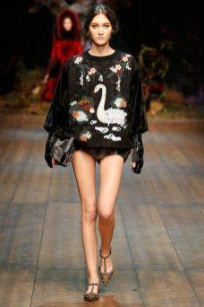 Emma Waldo - Dolce & Gabbana 2014 Sonbahar-Kış Koleksiyonu