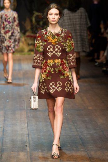 Lieke van Houten - Dolce & Gabbana 2014 Sonbahar-Kış Koleksiyonu