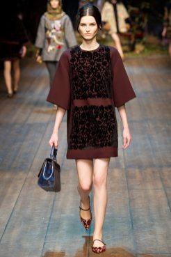 Katlin Aas - Dolce & Gabbana 2014 Sonbahar-Kış Koleksiyonu