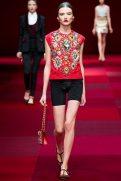 Gabriele Regesaite - Dolce & Gabbana Spring 2015 Koleksiyonu