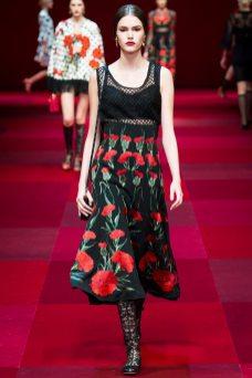 Vanessa Moody - Dolce & Gabbana Spring 2015 Koleksiyonu