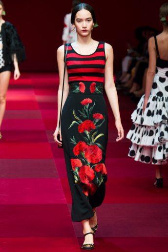 Mona Matsuoka - Dolce & Gabbana Spring 2015 Koleksiyonu