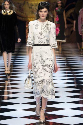 Nastya Abramova - Dolce & Gabbana Fall 2016 Ready-to-Wear