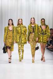 Vittoria Ceretti - Rianne van Rompaey - Lexi Boling - Versace Spring 2018 Ready-to-Wear