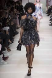 Crystal Noreiga - Armani Privé Spring 2018 Couture