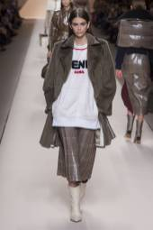 Kaia Gerber - Fendi Fall 2018 Ready-to-Wear
