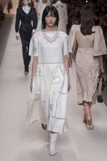 Sora Choi - Fendi Fall 2018 Ready-to-Wear