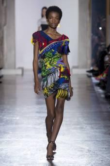 Imari Karanja - Versace Fall 2018 Ready-to-Wear
