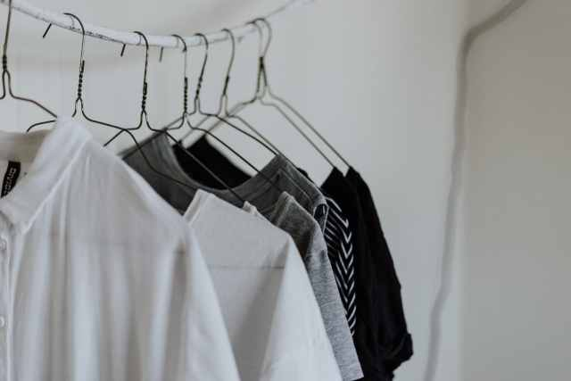 Guarda-roupa: peças organizadas