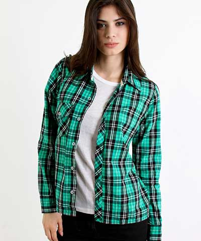 blusas xadrez da moda