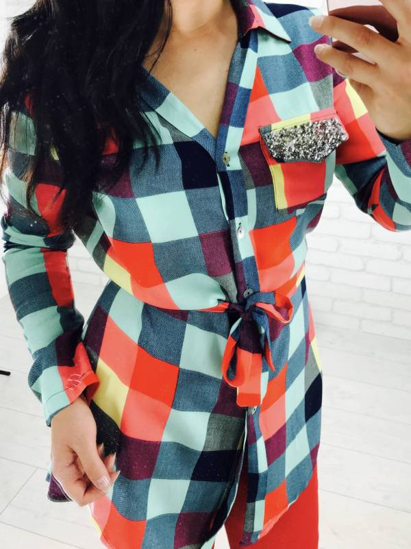 Koszula Elnino kolorowa krata