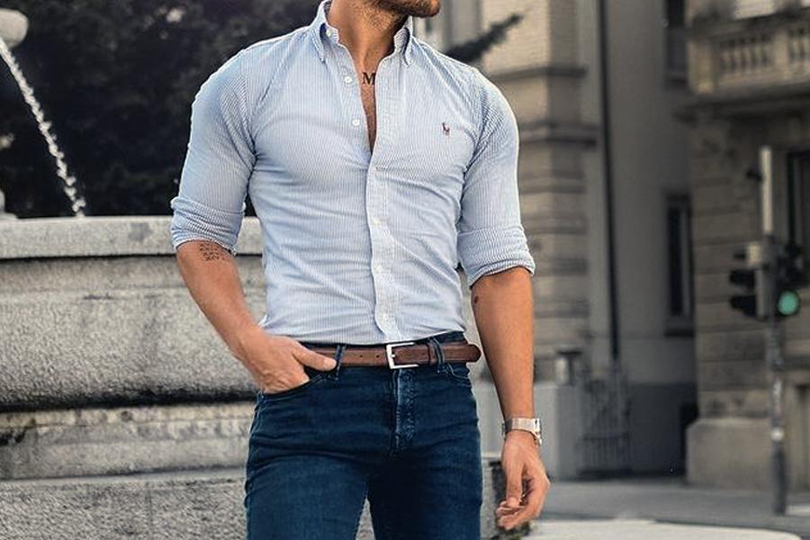 camisa social com ou sem cinto