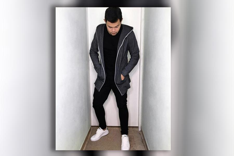look preto com tênis branco