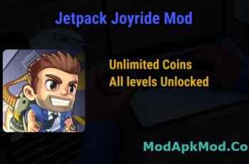 Jetpack Joyride Mod Unlimited money All levels Unlocked