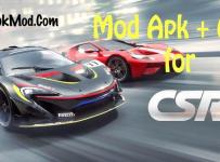 CSR Racing 2 Mod Apk Unlimited Money and Gold + OBB Data