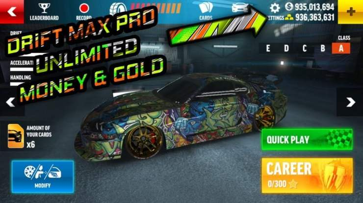 Drift Max Pro Mod Apk (Unlimited Gold + Cash Free Shopping)