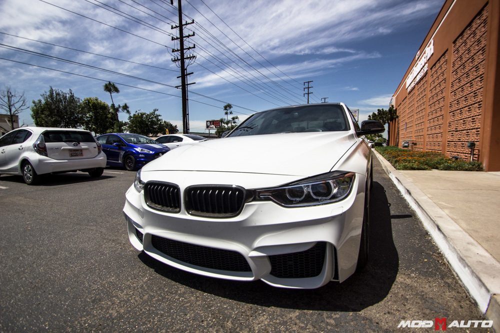 BMW F30 With A F80 M3 Style Bumper Upgrade Mod Auto