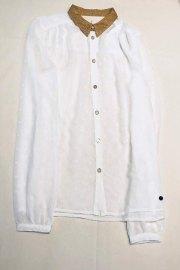 Camisa transparente con lunares al tono de Nümph.