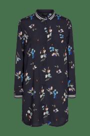 Freequent- Vestido camisero en estampado floral.