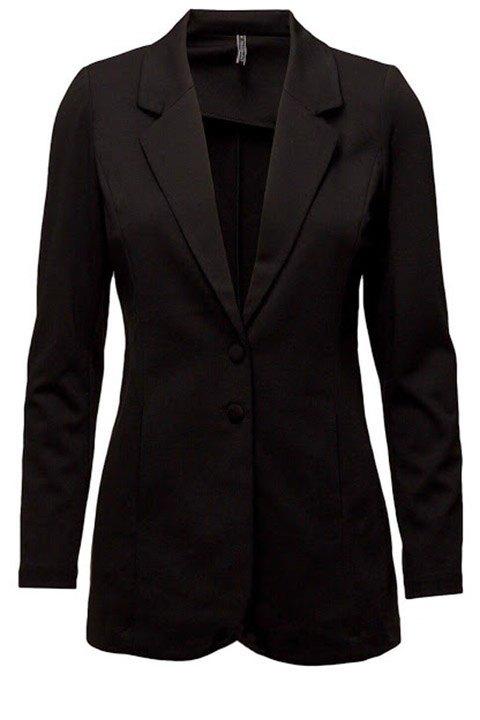 Freequent. Chaqueta tricot entallada en negro.
