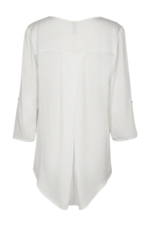 Freequent. Blusa Sanne en color blanco roto vista por la espalda.