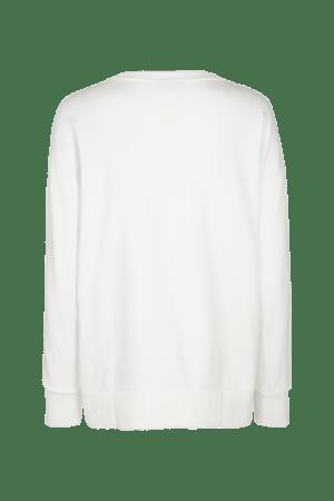 Sudadera Frikka color blanco vista por la espalda.