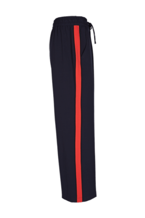 Pantalón Lizy con banda lateral en color roja. Freequent.