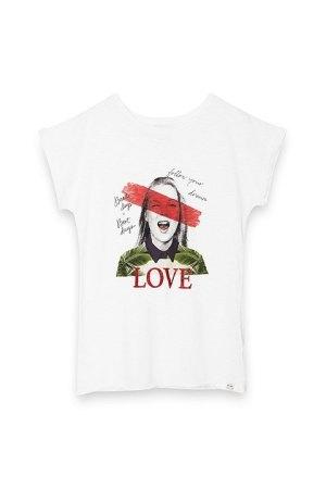 """Camiseta algodón de Kate con mensaje """"ama y sigue tus sueños"""""""