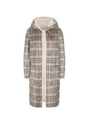 Freequent- Scotie-ja. Abrigo reversible con capucha, bolsillos y cierre con cremallera.