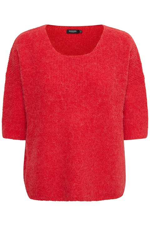 Tuesday jumper. Jersey de color rojo con manga francesa de la marca Soaked in Luxury.