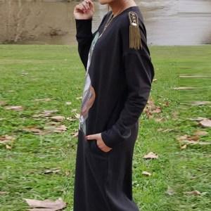 Vestido Cindy Crawford largo midi en algodón.