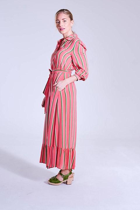 Lateral del vestido Mikonos de Smile.