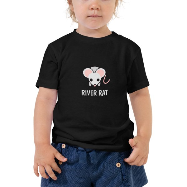 River Rat Toddler Tshirt in Black
