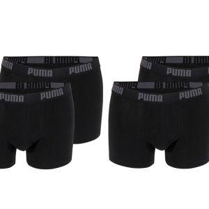 4-pack zwarte boxershorts Puma-XL