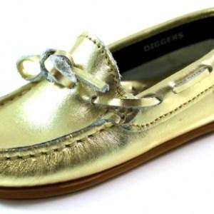 Diggers schoenen mocassins C600.03 Goud DIG03