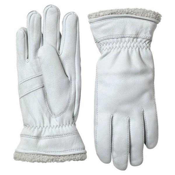 Handschoen Deerskin Primaloft Wit