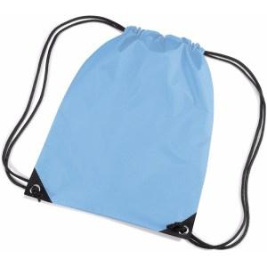 Lichtblauwe gymtas met koordsluiting