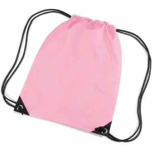 Roze gymtas met koordsluiting