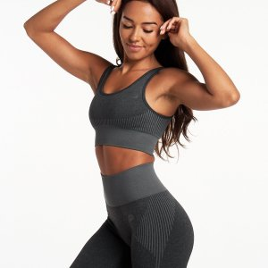 Sporttop Dames Donkergrijs Seamless - Pursue Fitness Adapt