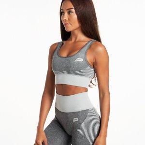 Sporttop Dames Grijs Seamless - Pursue Fitness Adapt