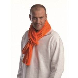 Zachte oranje fleece sjaal