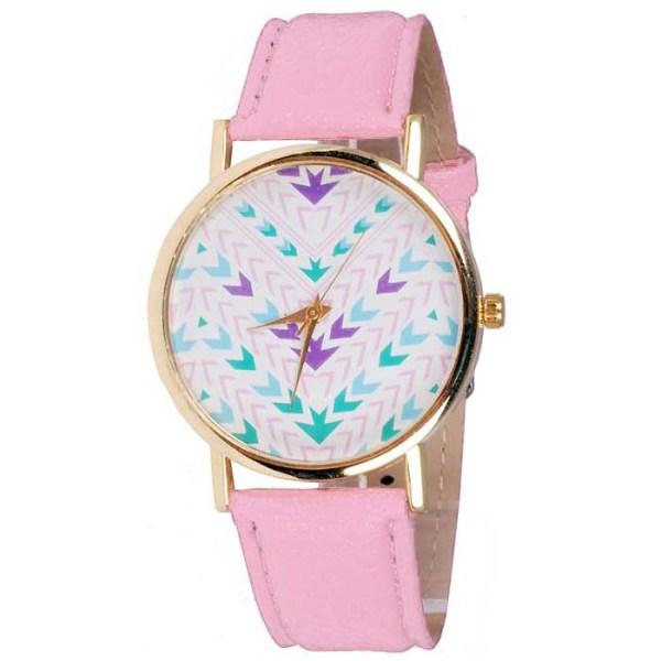 Geneva Fashion horloge Aztec Pink