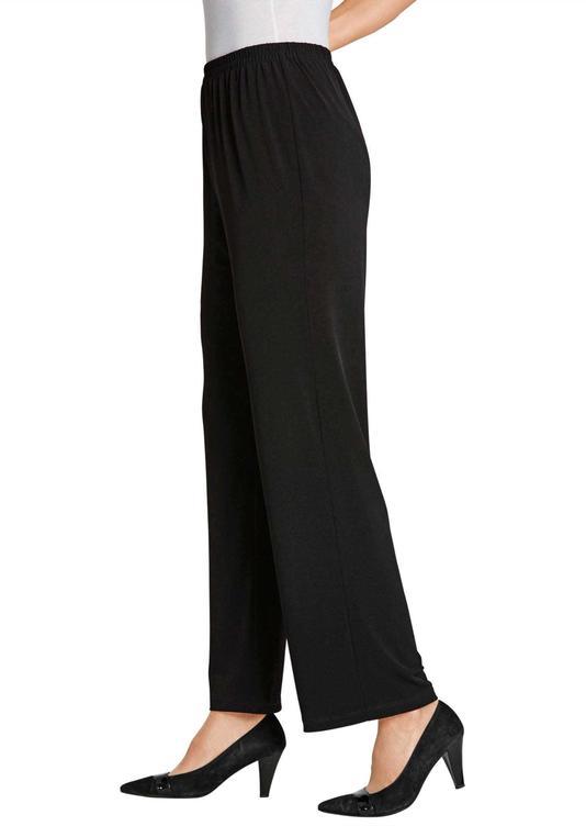 Comfortabele slinky broek met elastische tailleband