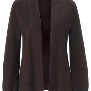 Vest van 100% katoen met losjes vallende pofmouwen Van Peter Hahn bruin