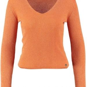 Amelie & amelie korte oranje trui met glitterdraad (one size is xs/s)
