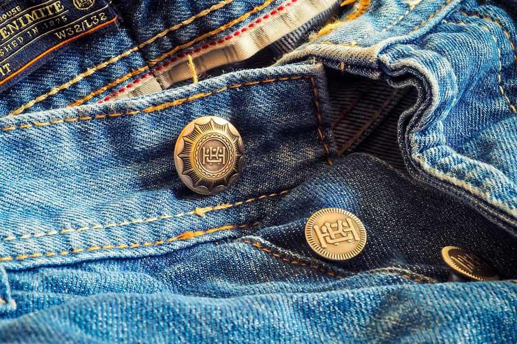 Denim Jeans Knöpfe