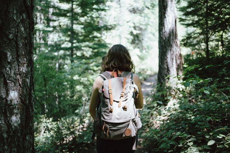 Rucksack Wandern Frau