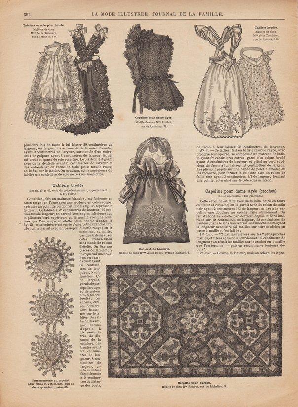 tablier brodé mode illustrée