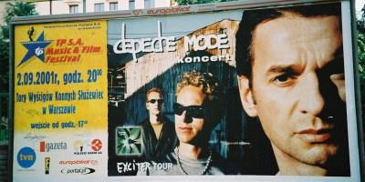 Plakat Koncertu w Warszawie 2001.09.02