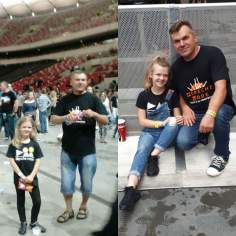 Kornelia z Tatą 2013 i 2017.